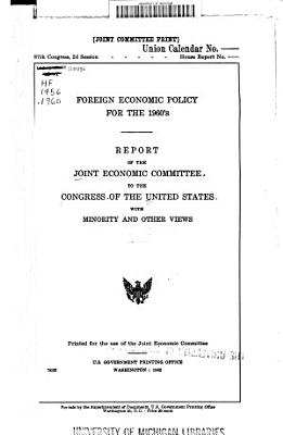 Foreign Economic Policy for the 1960 s