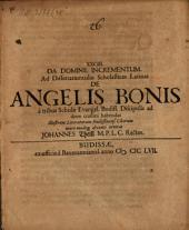 XXCIII. Ad dissertatiunculas scholasticas Latinas de angelis bonis
