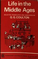 Life in the Middle Ages  Selected Translated   Annotated by     PDF
