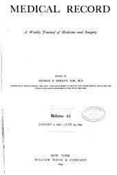 Medical Record: Volume 41