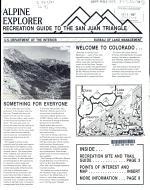 Alpine Explorer Recreation Guide to the San Juan Triangle