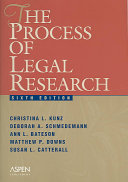 The Process of Legal Research PDF