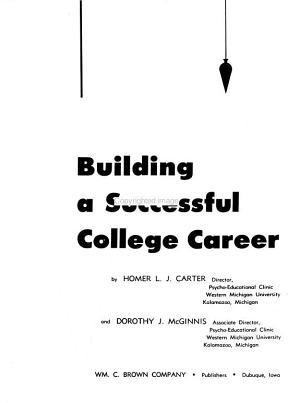 Building a Successful College Career PDF