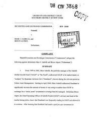 Marc J Gabelli And Bruce Alpert Securities And Exchange Commission Litigation Complaint Book PDF