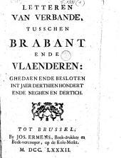 Letteren van verbande, tusschen Brabant ende Vlaenderen: ghedaen ende besloten int jaer derthienhondert ende neghenendertich