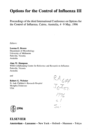 Options for the Control of Influenza III PDF