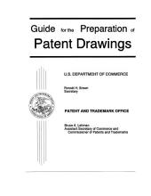 Guide for the Preparation of Patent Drawings: Selected Rules of Practice Relating to Patent Drawings