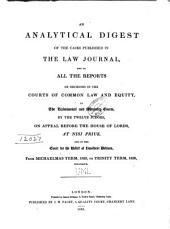 Analytical Digest of Cases Published in the Law Journal Reports
