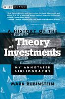 A History of the Theory of Investments PDF