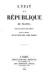 L'etat, ou, La République de Platon