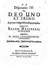 De Deo Uno Et Trino