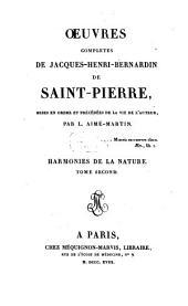 Oeuvres complètes: Harmonies de la nature ; T. 2, Volume9