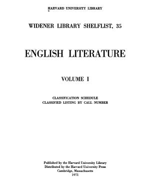 English Literature PDF