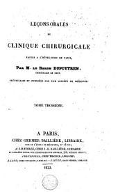 Leçons orales de clinique chirurgicale: faites à l'Hôtel-Dieu de Paris, Volume3
