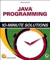 Java Programming 10-Minute Solutions