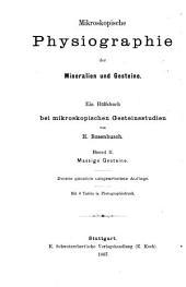 Mikroskopische Physiographie der Mineralien und Gestine: Massige Gesteine