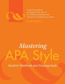 Mastering APA Style Book