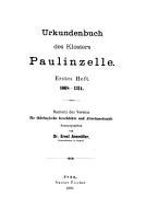 Urkundenbuch des Klosters Paulinzelle  1068 1534 PDF