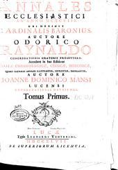 Annales ecclesiastici ab anno MCXCVIII: Volume 1