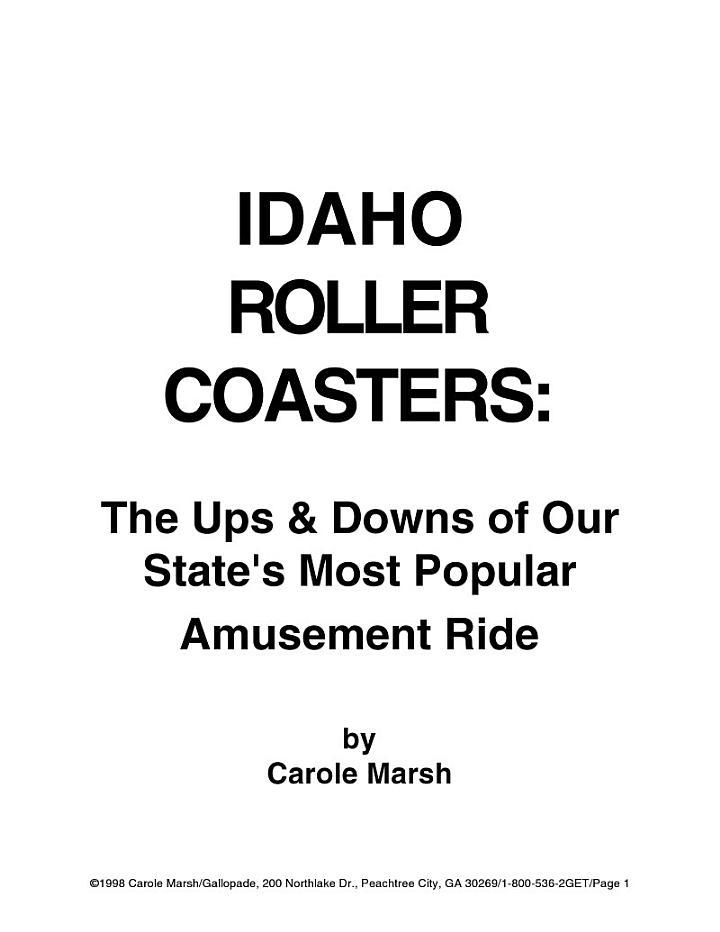 Idaho Rollercoasters!