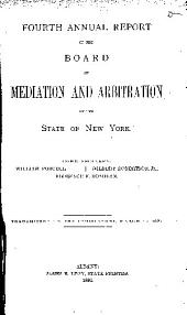 Annual Report of the Board of Mediation and Arbitration of the State of New York: Volume 4