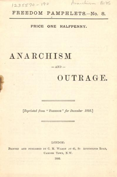 Download Anarchism and Outrage Book