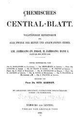 Chemisches Zentralblatt: Vollständiges Repertorium für alle Zweige der Reinen und angewandten Chemie, Band 61,Ausgaben 1-26
