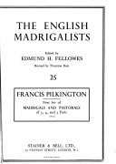First Set of Madrigals and Pastorals PDF