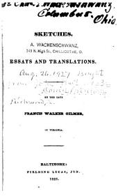 Sketches, essays and translations