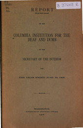 Annual Report of the Columbia Institution for the Deaf to the Secretary of the Interior: Issue 49
