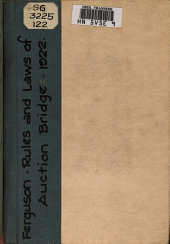 The 1922 Rules and Laws of Auction Bridge