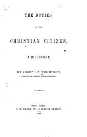 The Duties of the Christian Citizen