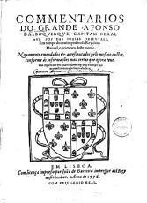 Commentarios do grande Afonso Dalboquerque capitam geral que foy das Indias Orientaes PDF