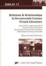 Relations   Relationships In Seventeenth Century French Literature