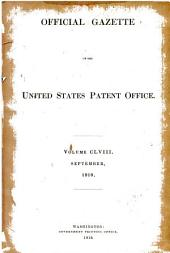 Official Gazette of the United States Patent Office: Volume 158