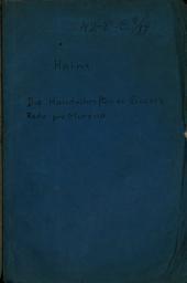 Die Handschriften zu Cicero's Rede pro Murena