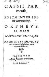 Orpheus et in eum Nathanis Chytraei commentario lum