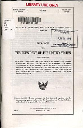 Protocol Amending 1980 Tax Convention with Canada PDF