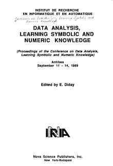 Data Analysis  Learning Symbolic and Numeric Knowledge PDF
