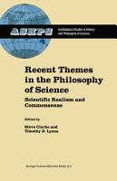 Recent Themes in the Philosophy of Science PDF