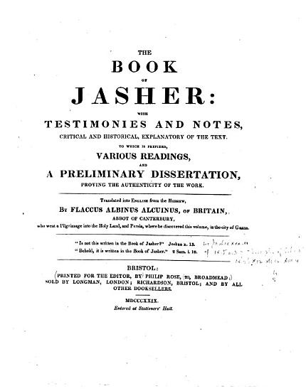 The Book of Jasher PDF