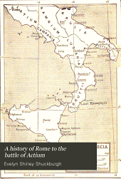 A History of Rome to the Battle of Actium