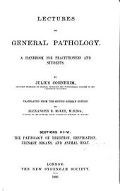 Lectures on General Pathology: A Handbook for Practitioners and Students, Volume 3