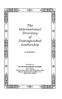 The International Directory of Distinguished Leadership PDF