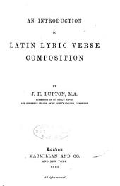 An Introduction to Latin Lyric Verse Composition