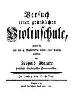 Versuch einer gr  ndlichen Violinschule PDF