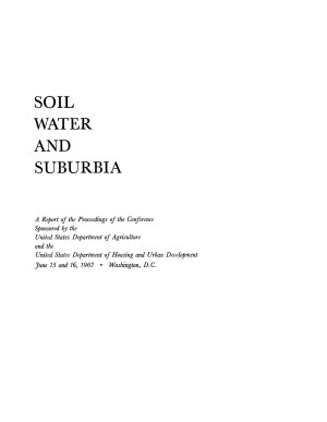 Soil  Water  and Suburbia PDF