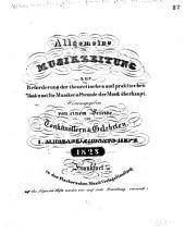 Allgemeine Musikzeitung zur Beförderung der theoretischen und praktischen Tonkunst für Musiker & Freunde der Musik überhaupt ...: Band 2