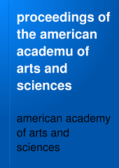 proceedings of the american academu of arts and sciences