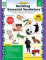Building Essential Vocabulary  Ages 4   9 PDF